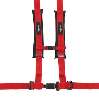 Amped Off-Road 4.2 Autobuckle UTV Harness w/ Removable Pads Red 8102RD