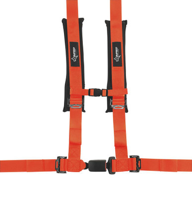 Amped Off-Road 4.2 Autobuckle UTV Harness w/ Removable Pads Orange 8102OR