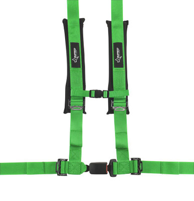 Amped Off-Road 4.2 Autobuckle UTV Harness w/ Removable Pads Green 8102GR