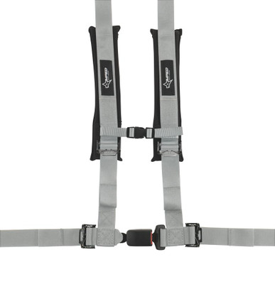 Amped Off-Road 4.2 Autobuckle UTV Harness w/ Removable Pads Silver 8102SV