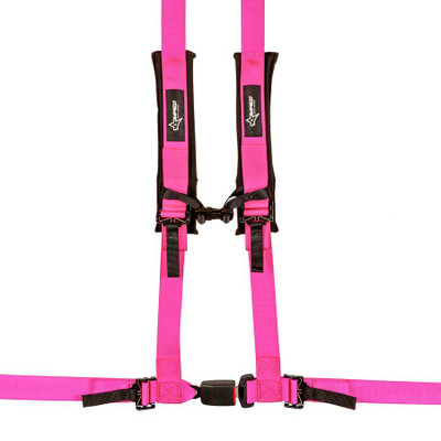 Amped Off-Road 4.2 Autobuckle UTV Harness w/ Removable Pads Pink 8102PK