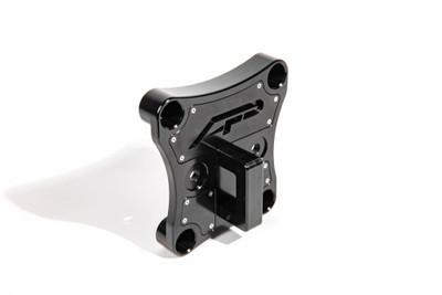 Agency Power Can-Am Maverick X3 Radius Rod Plate w/ D-Ring Black AP-BRP-X3-230-BLK