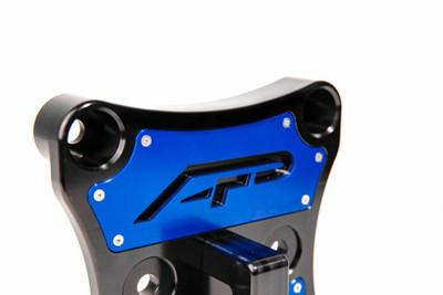 Agency Power Can-Am Maverick X3 Radius Rod Plate w/ D-Ring Blue AP-BRP-X3-230-BLU