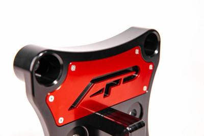 Agency Power Can-Am Maverick X3 Radius Rod Plate w/ D-Ring Red AP-BRP-X3-230-RD