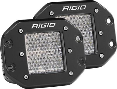 Rigid Industries D-Series Pro Diffused Flush Mount Pair 512513