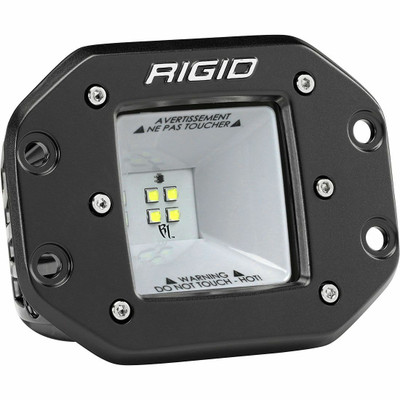Rigid Industries DC Power Scene Light 115 Degree Black Housing 2X2 681523