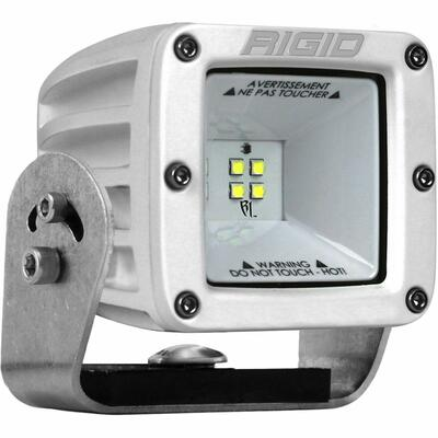 Rigid Industries DC Power Scene Light 115 Degree White Housing 2X2 681613