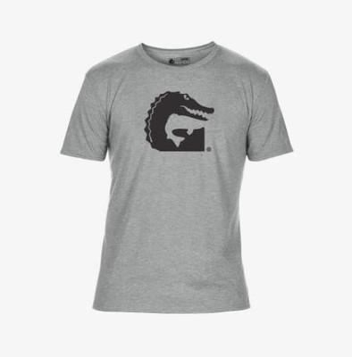 Gator Waders Fish Logo Graphic Tee Mens Grey TEEF10MS