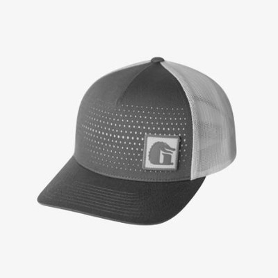 Gator Waders Square Patch Hat Grey RHSG