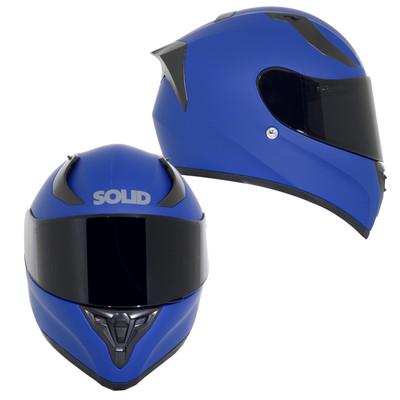 SOLID Helmets S42 Full Face Sport Helmet Matte Blue SOLID-S42-BL