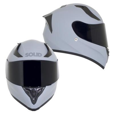 SOLID Helmets S42 Full Face Sport Helmet Matte Grey SOLID-S42-GR