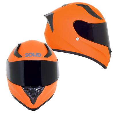 SOLID Helmets S42 Full Face Sport Helmet Matte Orange SOLID-S42-OR