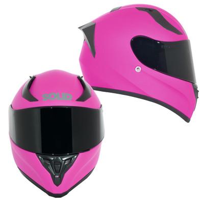 SOLID Helmets S42 Full Face Sport Helmet Matte Pink SOLID-S42-P