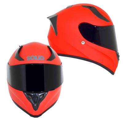 SOLID Helmets S42 Full Face Sport Helmet Matte Red SOLID-S42-R