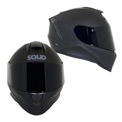 SOLID Helmets S30 Youth Full Face Sport Helmet Matte Black SOLID-S30-BK