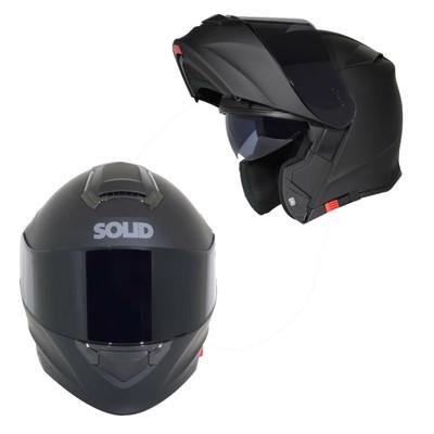 SOLID Helmets S54 Modular Full Face Helmet Matte Black SOLID-S54-BK