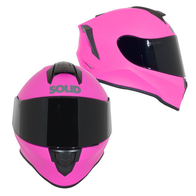 SOLID Helmets S30 Youth Full Face Sport Helmet Matte Pink SOLID-S30-P