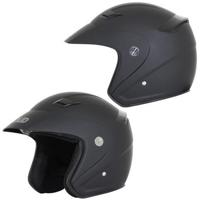 SOLID Helmets S26 Open Face Helmet Matte Black SOLID-S26-BK
