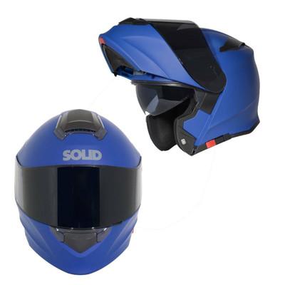 SOLID Helmets S54 Modular Full Face Helmet Matte Blue SOLID-S54-BL