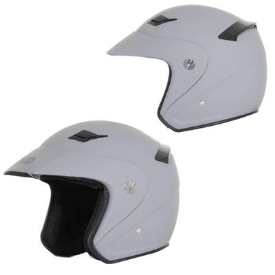 SOLID Helmets S26 Open Face Helmet Matte Grey SOLID-S26-GR