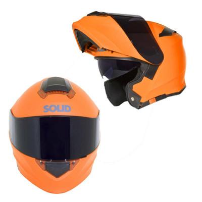 SOLID Helmets S54 Modular Full Face Helmet Matte Orange SOLID-S54-OR