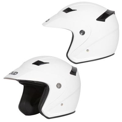 SOLID Helmets S26 Open Face Helmet Matte White SOLID-S26-WH