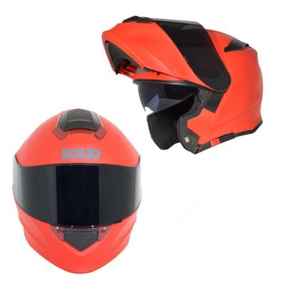 SOLID Helmets S54 Modular Full Face Helmet Matte Red SOLID-S54-R