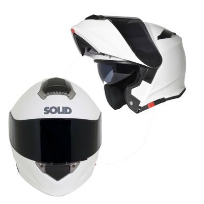 SOLID Helmets S54 Modular Full Face Helmet Matte White SOLID-S54-WH