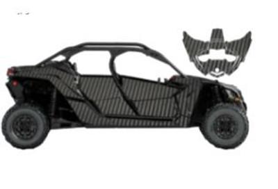 UTV Source Can-Am Maverick X3 MAX Wrap Kit or Carbon Fiber Black Carbon X3MAXK4D-6
