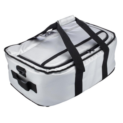 AO Coolers 38 Pack Carbon Stow-N-Go Silver AOCRSNGSL