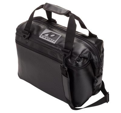 AO Coolers 12 Pack Carbon Cooler Black AOCR12BK