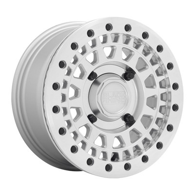 Black Rhino Wheels Parker Beadlock UTV Wheel 15x7 4x156 36 Silver 1570PKB364156S32