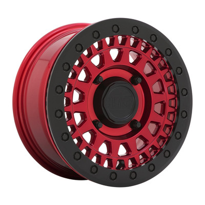 Black Rhino Wheels Parker Beadlock UTV Wheel 15x7 4x110 51 Candy Red 1570PKB514110R82