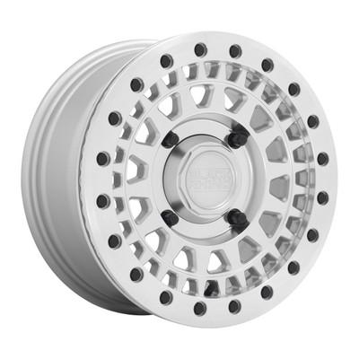 Black Rhino Wheels Parker Beadlock UTV Wheel 15x7 4x110 51 Silver 1570PKB514110S82