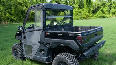 Seizmik Polaris Full Size Pro-Fit Ranger Hard Rear Folding Windshield UV Resistant Polycarbonate SZ-32001