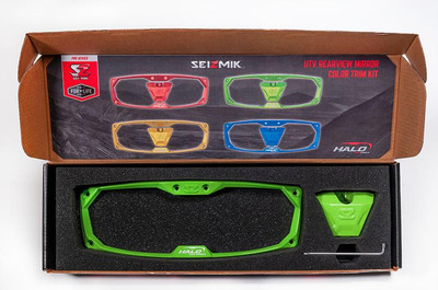 Seizmik Halo-RA Series Cast Aluminum Trim Kit Rearview Green 18101