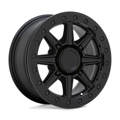 Black Rhino Wheels Webb Beadlock UTV Wheel 14x7 4x110 36 Matte Black 1470WBB364110M80