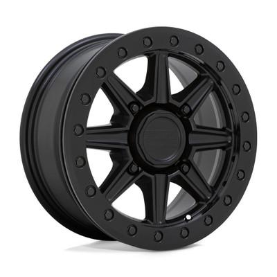 Black Rhino Wheels Webb Beadlock UTV Wheel 15x7 4x110 51 Matte Black 1570WBB514110M80