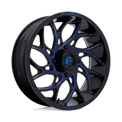 Fuel Offroad D778 RUNNER UTV Wheel 24X7 4X156 Gloss Black Milled Blue D7782470A544