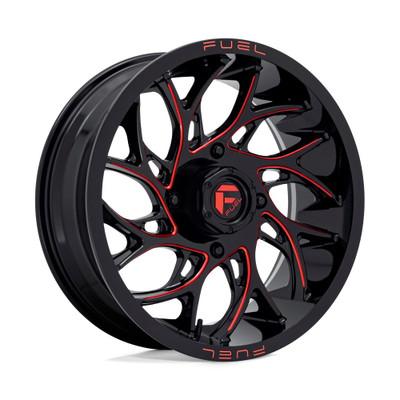 Fuel Offroad D779 RUNNER UTV Wheel 20X7 4X156 Gloss Black Milled Red D7792070A544