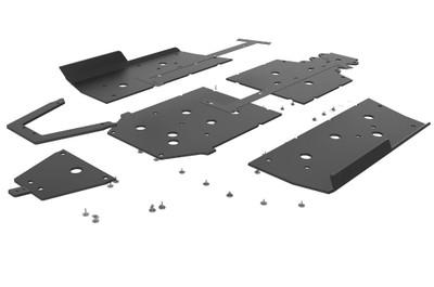 Seizmik Polaris Ranger XP 1000 UHMW Skid Plate Kit with Integrated Tree Kickers/Rock Sliders 76-10163
