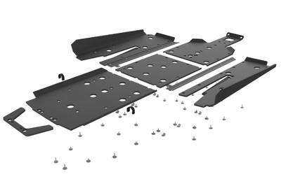 Seizmik Polaris RZR Turbo S UHMW Skid Plate Kit with Integrated Tree Kickers/Rock Sliders 76-10166