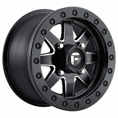 Fuel Offroad D938 Maverick Beadlock UTV Wheel 14x10 4X137 Matte Black Milled D9381400A655