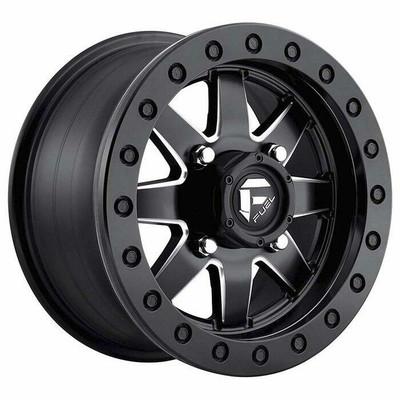 Fuel Offroad D938 Maverick Beadlock UTV Wheel 14X10 4X156 Matte Black Milled D9381400A555