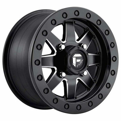 Fuel Offroad D938 Maverick Beadlock UTV Wheel 14x8 4X156 Matte Black Milled D9381480A545