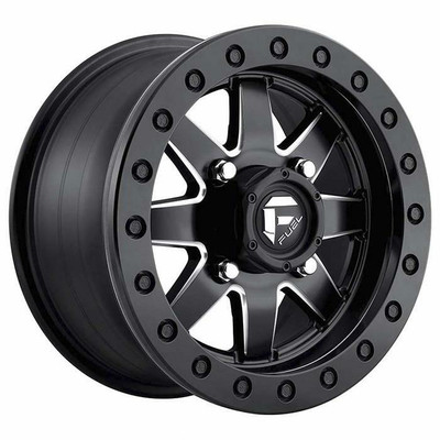 Fuel Offroad D938 Maverick Beadlock UTV Wheel 14x8 4X137 Matte Black Milled D9381480A645