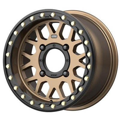 KMC Wheels KS235 Grenade Beadlock UTV Wheel 15x7 4X156 10 Satin Bronze KS23557044610