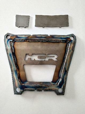 HCR Racing Polaris RZR Turbo S Back Plate with Weld in Tabs RZR-06209