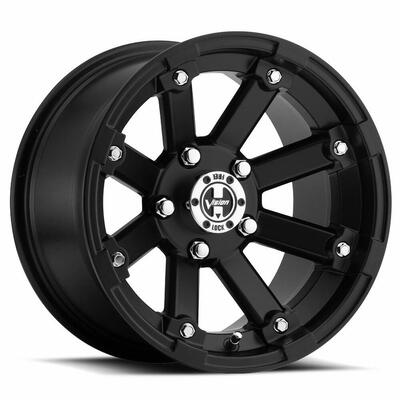 Vision Wheel 393 Lock Out UTV Beadlock 12x7 4x156 3 Matte Black 393-127156MB4