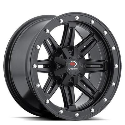 Vision Wheel 550 UTV Beadlock Wheel 12x7 4x136 3 Matte Black 550-127136MB4